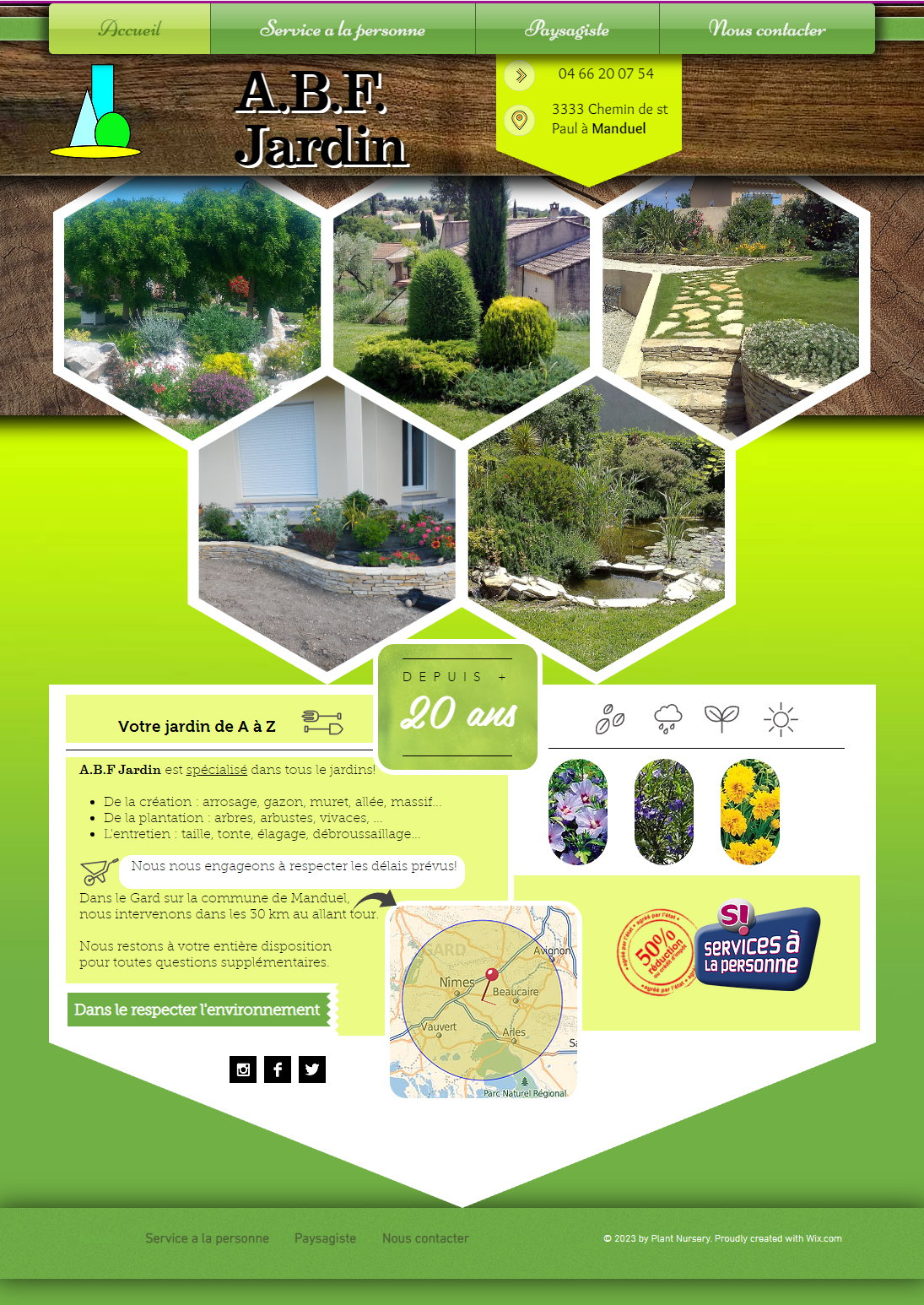 Abf jardin paysagiste dans toute la r gion de nimes votre for Emploi service jardinage
